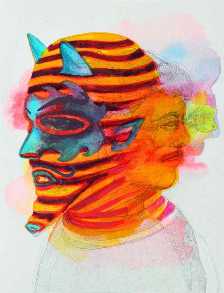 Adriana Ciudad_Ukuku_30,5x23cm_Bleistift und Aquarelle auf Fabriano Papier_2014